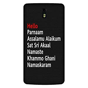 Mobo Monkey Designer Printed Back Case Cover for OnePlus One :: OnePlus 1 :: One Plus One (Hello :: Namaaste :: Gani :: Akaal :: Typography)