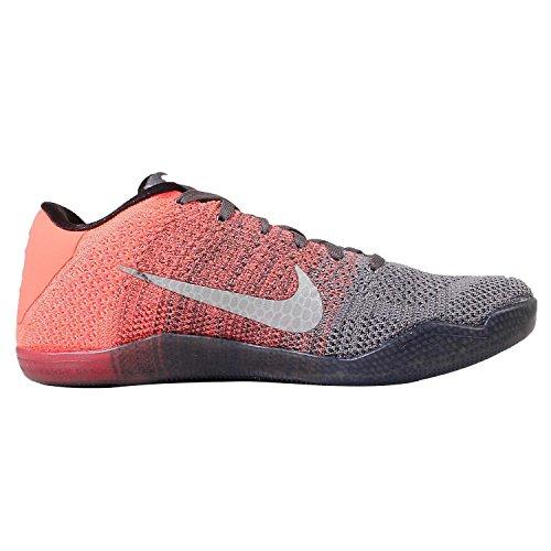 Nike Herren Kobe Xi Elite Low Basketballschuhe Gris / Verde / Amarillo / Morado (Drk Gry / Vlt-Brght Mng-Crt Prpl)