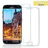 Aonsen Samsung Galaxy S7 Panzerglas Schutzfolie, [2 Stück] Displayschutzfolie für Panzerfolie Galaxy S7 [Einfache Installation], Gehärtetem Glass 9H Härtegrad, Anti-Kratzen, Anti-Fingerabdruck, Full Coverage Anti-Kratzen - Transparent