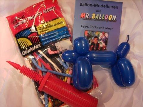 ##Modellierset 100 Modellierballons 260Q Qualatexballons, Pumpe, Anleitungsbuch##