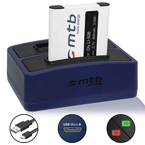 Akku + Dual-Ladegerät (USB) für Li-50b, D-Li92, LB-050... | Olympus SH-..SP-..SZ-..TG-..VG-..VR-..XZ-..µ-.. | Pentax WG-...| Kodak SPZ1 ... - s. Liste! (inkl. Micro-USB-Kabel)