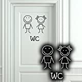 Wandkings WC Tür Aufkleber