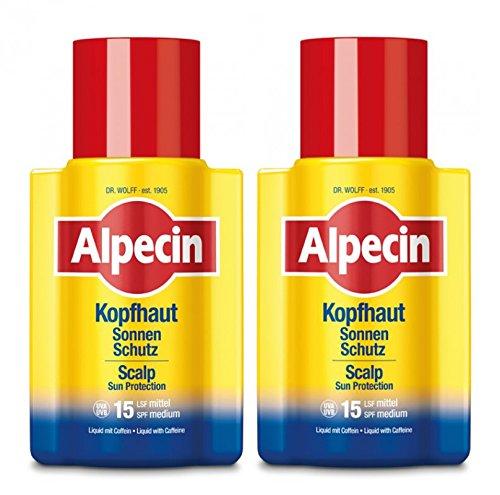 2er Kopshaut Sonnen Schutz Alpecin LSF 15 speziell für die Kopfhaut 100 ml