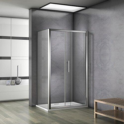 100x70x185cm cabine de douche porte coulissante avec paroi de douche pas de receveur