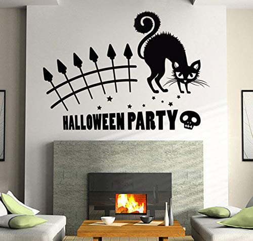Wall StickerNew Arrivals Halloween Party Katze Wandbild Removable Wall Sticker Art Vinyl Aufkleber Home Room Decor Katze Aufkleber Wandbild