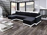 Ecksofa FUNTO U mit Schlaffunktion!Eckcouch Sofagarnitur Modern 01 mit LED