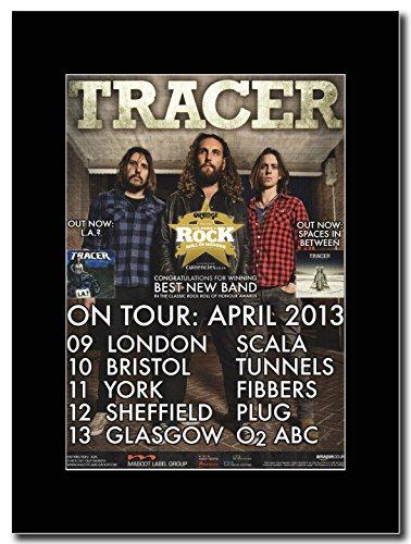 Tracer-UK Tour date aprile 2013Magazine promo su una montatura nero