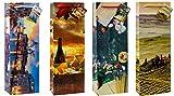 TSI 82280 Geschenkbeutel Toskana & Venedig, 12er Packung, Größe: Flasche groß (36 x 12 x 8 cm)