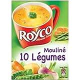 Royco minte soup mouliné 10 légumes 4 sachets x 20 cl - Livraison Gratuite En France - Prix Par Unité