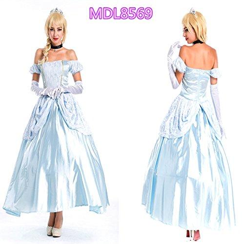 Kostüm Tuxedo White - Gorgeous Halloween-Kostüm edle Königin Kleid Aschenputtel Snow White Frack Hoftracht in Europa , #1