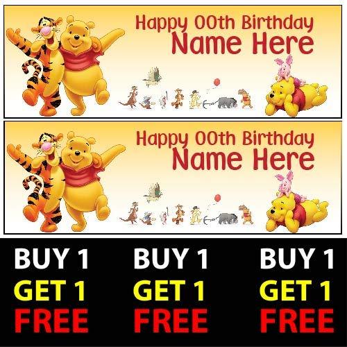 uh Buy 1 Gratis-Geburtstagsbanner 100 g/m² für Kinder Jungen Mädchen Geburtstag Party ()