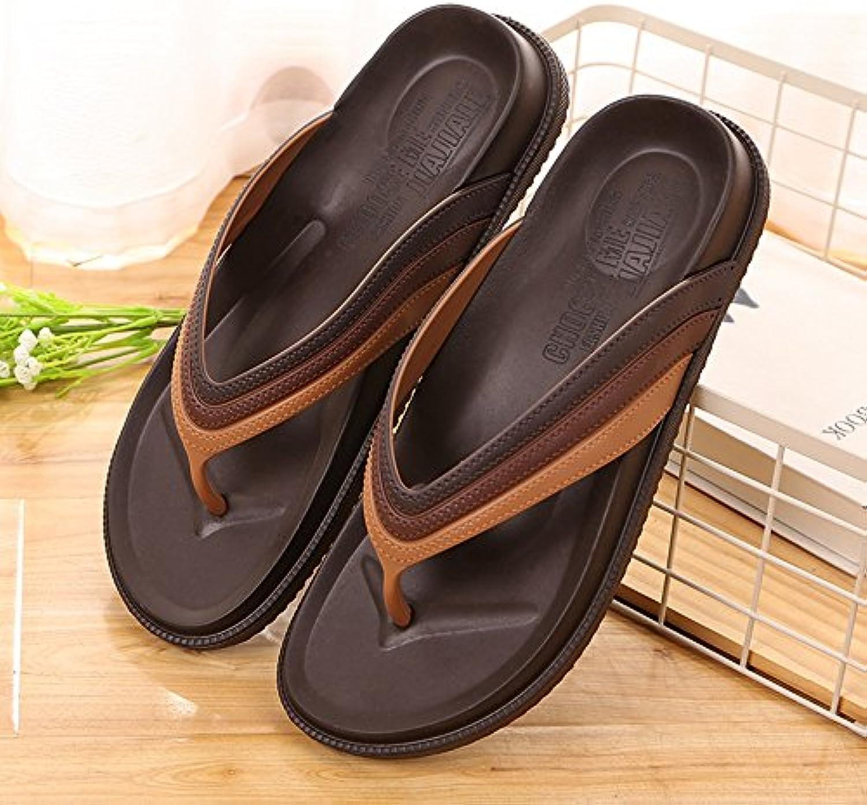 GYHDDP Sommer Haus Hausschuhe Herren und Frauen Anti Rutsch Bad Hausschuhe Paar Hause Innen dicke Kunststoff Pantoffeln