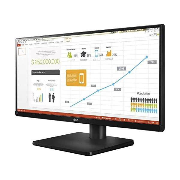 LG 29UB67 29 inch Ultraide Height Adjustable IPS Monitor (2560 x 1080, DVI,  HDMI, DisplayPort, 300 cd/m2, 5ms)