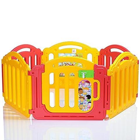 LCP Kids Parc Bébé de 6 cotés avec une porte