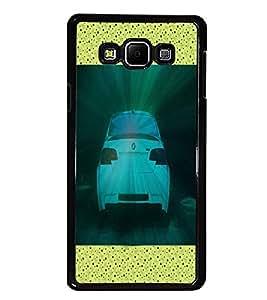 PrintDhaba Car Rear D-3419 Back Case Cover for SAMSUNG GALAXY A7 (Multi-Coloured)