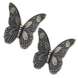 2PCS 85mm Europäische Stil Butterfly Form Bronze Türknauf Griff pull kid Zimmer und Fun Decor Ziehen Knöpfe Möbelgriffe MöbelKnopf für Schrank/Kleiderschrank/Schublade/Badezimmer /Weinschrank