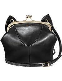 Rubysports Bags RubySports Cute Cat Ear Pu Leather Pouch Clutch Purse Mini Cross Body Shoulder Tote Bags Wallet...