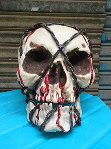 Rwdacfs Halloween Horror Haunted Haus dekorative Draht Schädel beängstigend Requisiten