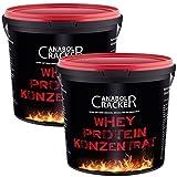 2X 100% reines Whey !! Protein Konzentrat, 1800g Vanille oder Himbeer-Eis Geschmack, Eiweißpulver, Glutamin, Bcaa (2X Himbeer-Eis)