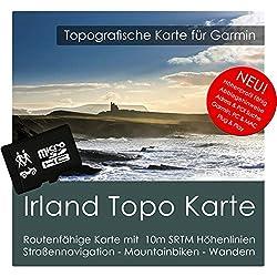 Irland Garmin Karte TOPO 4 GB microSD. Topografische GPS Freizeitkarte für Fahrrad Wandern Touren Trekking Geocaching & Outdoor. Navigationsgeräte, PC & MAC