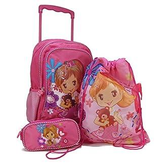 STEFANO-Trolley-Kindertrolley-Kinderreisetasche-Kinderkoffer-pink-rosa