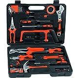Maletín de herramientas profesional RDM Quality Tools 76049. Kit de herramientas de 108 piezas.  Color rojo y negro.