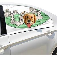 La Gran Muralla de la historia de China Perro plegable mascotas Seguridad el coche Ventana impresa