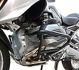 Motorbikecomponents, Paracilindri-paramotore tubolare in ferro verniciato Nero compatibile con BMW R 1200 GS LC 2013-2018