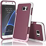 Coque Samsung galaxy S7 edge , XY-shell(TM) 3 couleur[absorbant les chocs] [ Anti-rayures Back]Coque Silicone Housse Etui Ultra Slim Fit pour Galaxy S7 edge sorti en 2016.[Vin rouge]