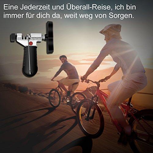 YISSVIC Kettennietdrücker Werkzeug Fahrradketten Entferner Werkzeug Fahrradreparatur-Set für Entfernen der Fahrrad Ketten schwarz - 8