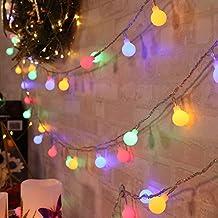 QederTEK 13M 100 LED Guirnalda Luces Bombillas Multicolor Decoración de Navidad, Fiesta, Bpda, Hogar, Patio, Terazza, Dormitorio (Enchufe Versión Europea)