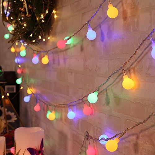 Qedertek catena luminosa 100 luci led, luci stringa da 10 metri per interno,luce natalizie per albero di natale,addobbi natalizi per soggiorno,luce colorate per decorazione natale