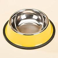 SX-ZZJ Cuenco de Acero Inoxidable para Perros, Perro Grande Golden Retriever/Labrador Dog Pet Supplies (Color : E)