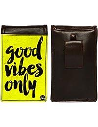 Nutcase Designer Travel Waist Mobile Pouch Bag For Men, Fanny Pack With Belt Loop & Neck Strap-High Quality PU... - B075N5TMHM