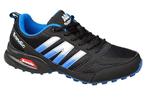 gibra , Chaussures de course pour homme Schwarz/Blau