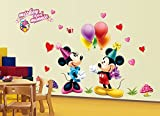 #7: The Splash Famous Cartoons Wall Stickers (Multicolor, Wall Covering Area - 120(w) x 75(h) cm)