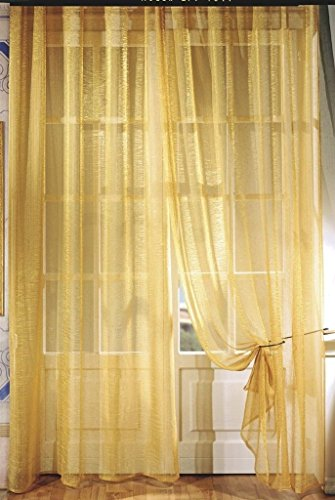 Pannelli Tenda Organza Crash Giallo/Blu