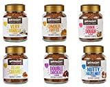 Beanies Flavoured Instant Coffee Variety Pack (6 x 50 Grams Jars): Caramel, Hazelnut, Very Vanilla, Cinder Toffee, Double Choc, Cookie Dough