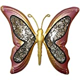 [Sponsored]Wrought Iron Butterfly Wall Sculpture Home Decor Accents 9 X 10 Inches
