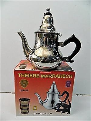 Théière Marocaine métal 1 L Petit-déjeuner Infusion thé