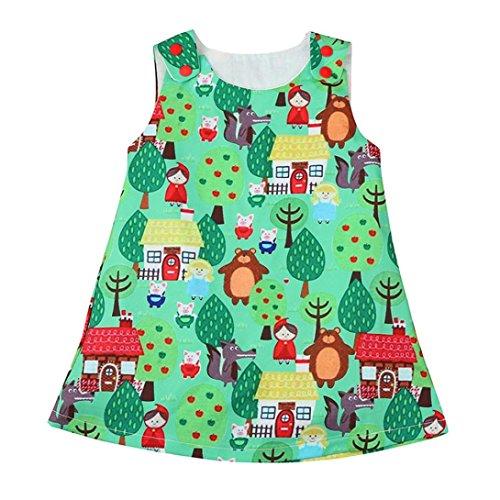 Hirolan Mädchen Karikatur Prinzessin Kleid Outfits Kleider (90, -