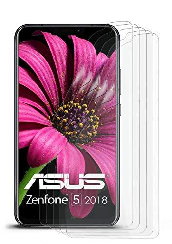 5X Asus Zenfone 5 (2018) | Schutzfolie Matt Bildschirm Schutz [Anti-Reflex] Screen Protector Fingerprint Handy-Folie Matte Bildschirmschutz-Folie für Asus Zenfone 5 (2018) Bildschirmfolie