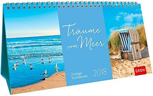 Träume vom Meer 2018: 3-teiliger Tischkalender mit Monatskalendarium
