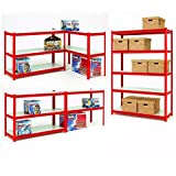 Clarke CS5265RP 1. 2m Wide Span Boltless Shelving (Red) - 6600645