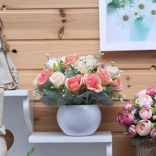 n Ornamente Emulation Blume Mini Topfpflanzen eingerichtet Esstisch , nehmen Sie die Perle der 2 (Kugel) (Red Door-perlen)