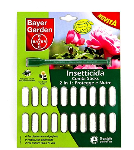 Combi sticks insetticida in pillole con concime in confezione da 20 pillole