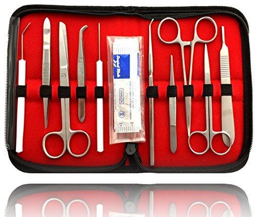 Sezierbesteck Präparierbesteck Anatomie Skalpell Chirurgie Set Medizin Biologie Operation für Studenten oder Heimwerker präzise schneiden Dissecting