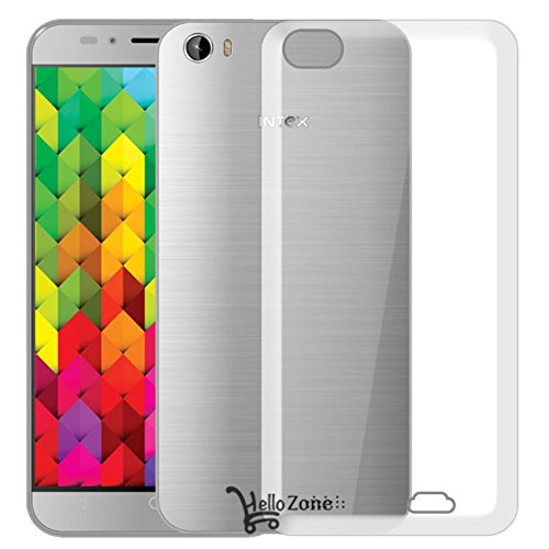 Exclusive Soft Silicon Transparent Crystal Clear Case Soft Back Case Cover For Intex Aqua Trend 4G