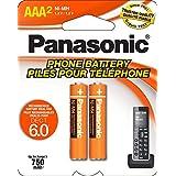 Panasonic NiMH AAA Rechargeable Battery for Cordless Phones (HHR-4DPA)