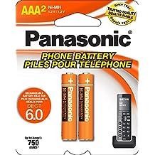 Panasonic HHR-4DPA Níquel-metal hidruro (NiMH) 700mAh 1.2V batería recargable - Batería/Pila recargable (Níquel-metal hidruro (NiMH), 700 mAh, 1,2 V, Amarillo, KX-TG1032/33/34 KX-TG823x Series KX-TG63xx Series KX-TG93xx Series KX-TG43xx Series KX-TG1061/62 KX- AAA)